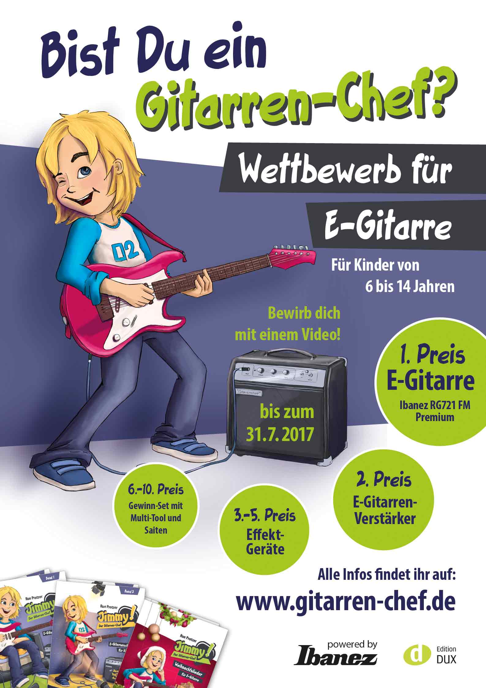 Wettbewerb-E-Gitarre